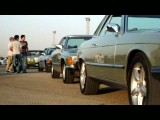 خروج مرسدس بنز های 8 سیلندر از پیست آزادی- گردهمایی خودرو های کلاسیک- تیر ماه 91