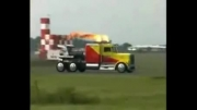 سریعترین کامیون جهان vs Shockwave هواپیما جت