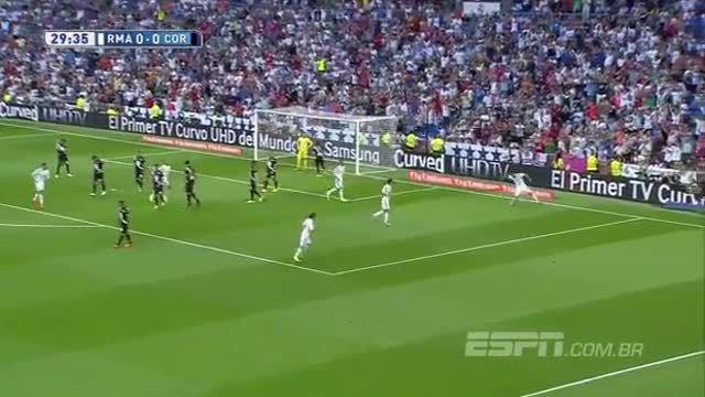گل های بازی رئال مادرید 2 - 0 کوردوبا