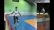رکورد دار تک چرخ دنیا با ارتفاع 6 متر ، منصور نادری