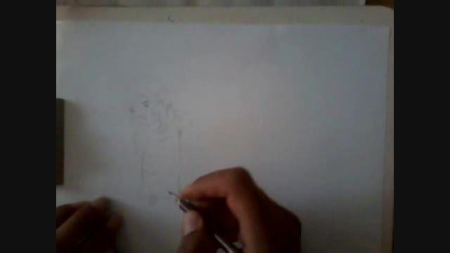 کشیدن نقاشی عاشقانه بسیار زیبا توسط امید سالاری