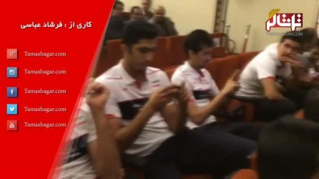 مراسم بدرقه تیم ملی والیبال به مسابقات جهانی
