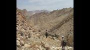 ریزش کوه بر اثر زلزله کاکی(بوشهر)