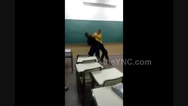 دعوای وحشتناک تو کلاس به جای درس
