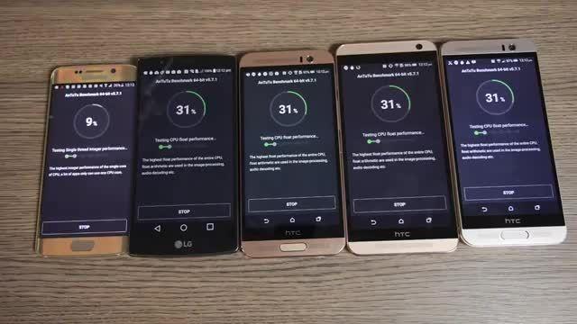 HTC One m9+ VS Galaxy S6 Edge VS HTC One E9+ VS HTC On