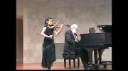 دوئت ویولن و پیانو- اجرایBazzini از ویولنیست 10 ساله