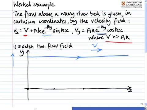 مکانیک سیالات پیشرفته - 09 - میدان جریان، مثال