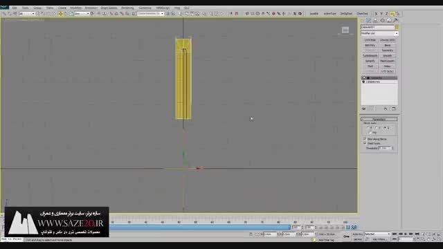 آموزش مدلسازی ستون در تری دی مکس