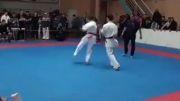 ضربه فنی کردن کاراته کار