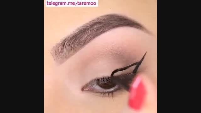 آرایش چشم با خط چشم زیبا در تارمو