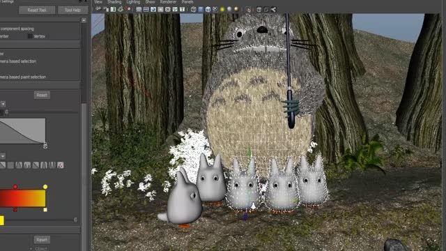 "Totoro in The Rain for the ""Tribute to Miyazaki"" event"