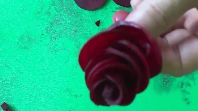 چغندر به شکل گل رز