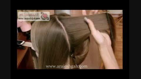 آموزش شینیون عروس | www.araieshgah.com