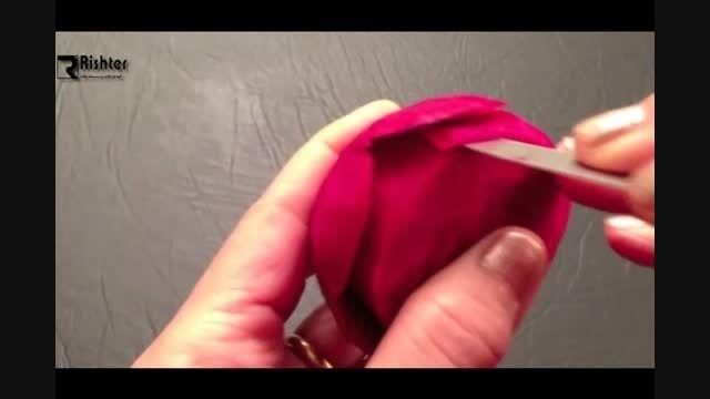 آموزش گل رز با چغندر به زبان فارسی