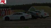 درگ دیدنی پورشه 911 Carrera و مرسدس C63 AMG و BMW 650i
