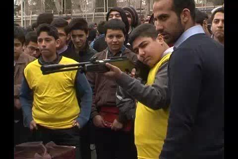 مسابقات تیراندازی المپیاد ورزشی دبیرستان سلام تجریش 93