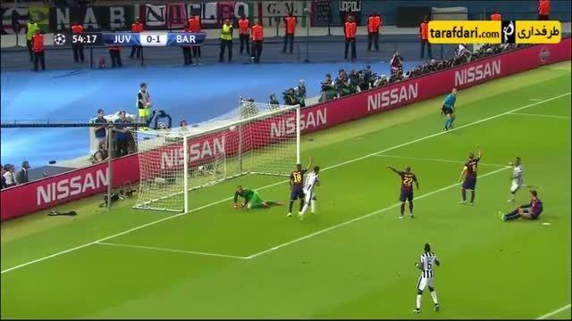 گل آلوارو موراتا (یوونتوس 1-1 بارسلونا)