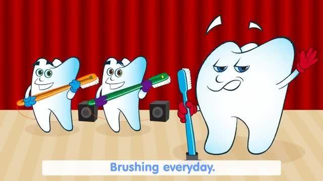كارتون مسواك زدن برای كودكان-مركز دندانپزشكی لبخند كودك
