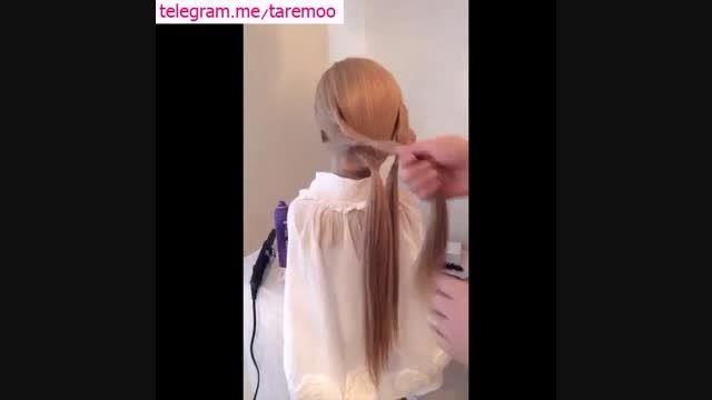 آموزش شینیون مو زیبا در تارمو
