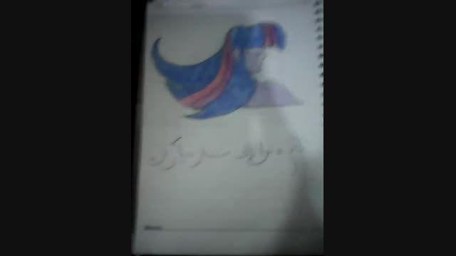 نقاشی هام برای مسابقه نقاشی دختران چایک سوار
