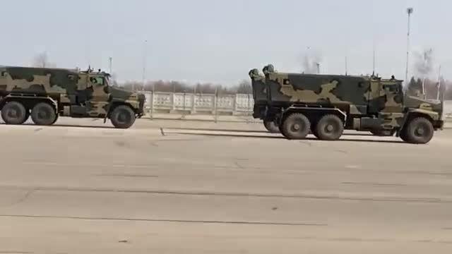 تمرینات ارتش روسیه برای رژه روز پیروزی 2015