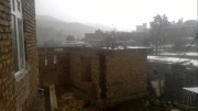 بارش باران شدید در روستای اتی کندی