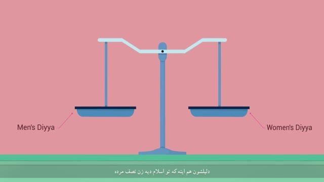 آیا حق زن در اسلام نصف مرد است ؟