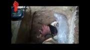 شهید محمودرضا بیضایی مدافع حرم در قبر