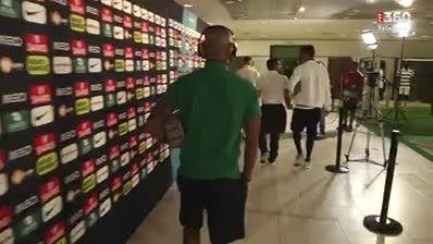 ورود بازیکنان پرتغال و فرانسه به استادیوم لیسبون