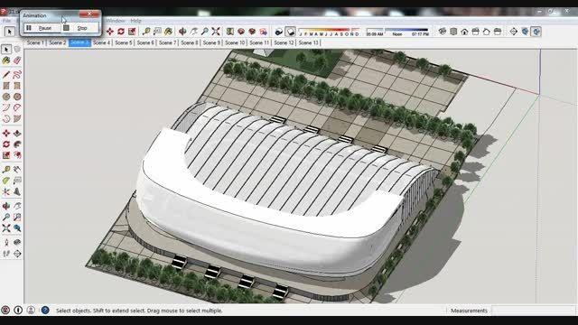 مدل 3 بعدی اسکچاپی استادیوم 31