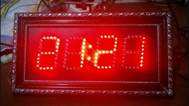 ساعت دیجیتال-نمایش ساعت، تاریخ شمسی و میلادی و دماسنج