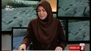 گریه مجری شبکه خبر، هنگام خواندن خبر کشته شدگان منا