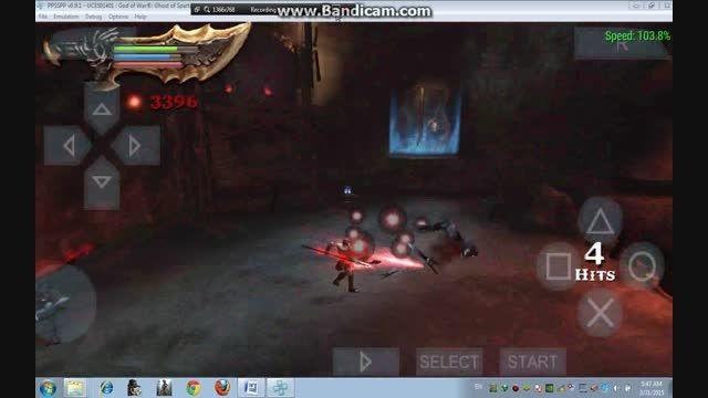 گیم پلی بازی god of war ghost of sparta در pc
