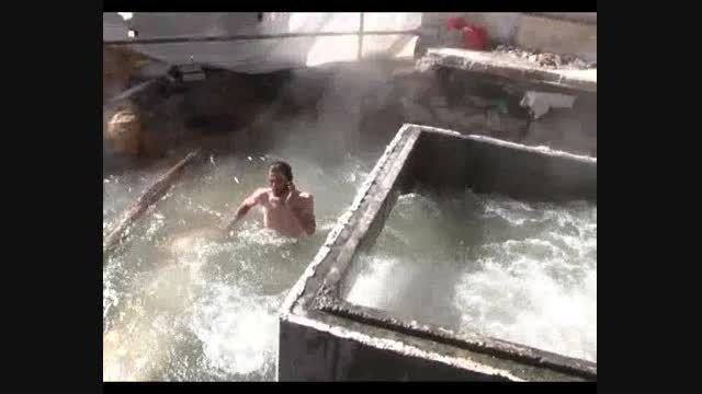 چشمه آبگرم آرتزین جاذبه ای جدید در شهر چشمه های بهشتی