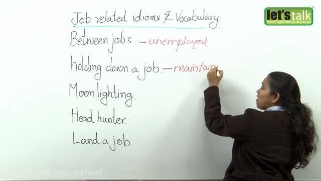 آموزش اسلنگ در زبان انگلیسی (Job Related)