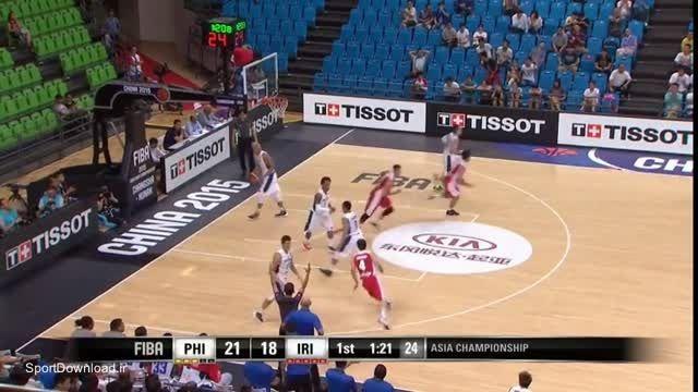 هایلایت مسابقه بسکتبال ایران فیلیپین 2015
