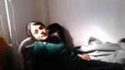 دختر زخمی مبارز کورد علوی  YPG - در حال درمان