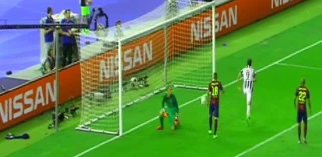 بارسلونا 1 - 1 یوونتوس (گل آلوارو موراتا)