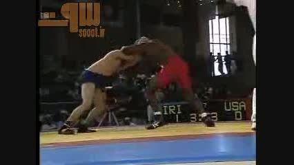 کشتی کوین جکسون و رسول خادم - فینال المپیک 1992