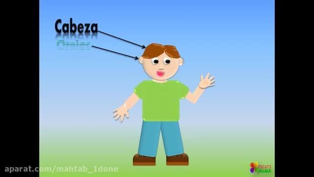 آموزش اعضای بدن به زبان اسپانیای به کودکان