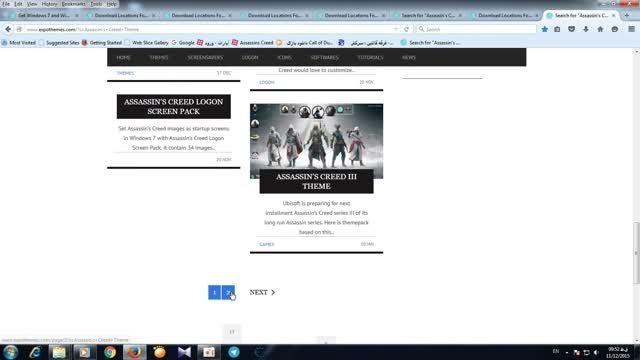 یک سایت پیدا کردم پر تم برای ویندوز 7 و 8