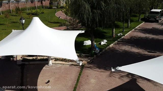 کاوشکام - پارکینگ چادری - سایبان چادری - آلاچیق چادری