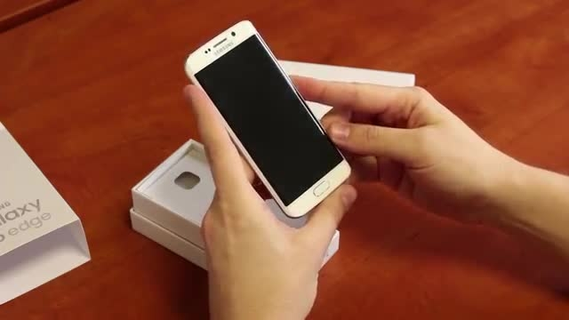 Samsung Galaxy S6 Edge - unboxing