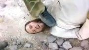 داعشی در زیر پای سربازان اسلام