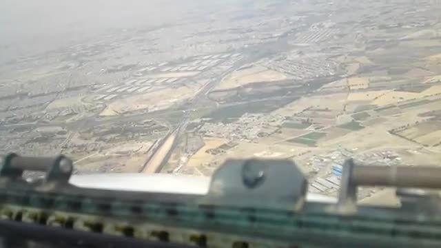 تقرب و فرود هواپیمای F100 در فرودگاه مهر آباد