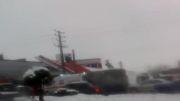 برف زیادی یاسوج باعث خراب شدن پمپ بنزین شده.