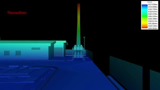 مدل سه بعدی اسکنر لیزری