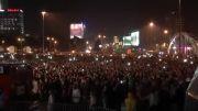 شادی مردم لهستان پس از کسب امتیاز پایانی در فینال