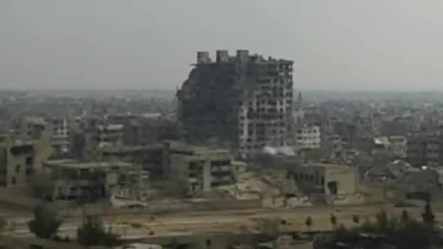 ارتش سوریه بزرگ ترین برج شهر جوبر را منفجر کرد