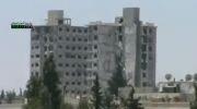 انهدام ساختمان مسکونی توسط تروریست ها در سوریه